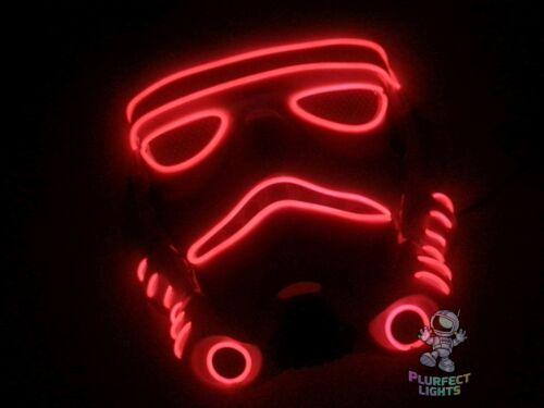 Star Wars RED Stormtrooper The Last Jedi Halloween Costume Rave Handmade Mask!