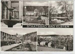 Ansichtskarte Bad Elster - Elsterbrunnen/Badehaus/Gondelteich/Leninpark - s/w