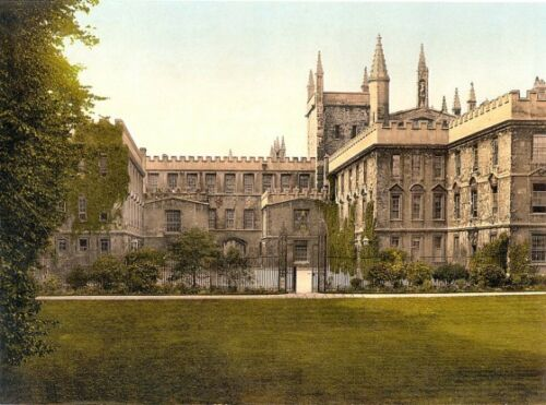 New College Oxford ENG Photochrome EPC1145 Art Print A4 A3 A2 A1