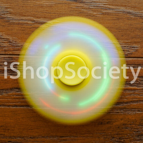 LED Tri Spinner Fidget Spinners EDC Figet Hand Desk Focus Toy ADHD USA YELLOW