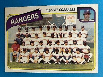 TEXAS RANGERS Team Set 1980 Topps