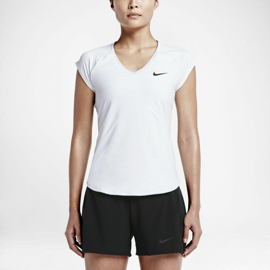 Nike Damen Tennisshirt Pure Top (728757-100) in weiß weiß weiß Größe S - XL a05ed3