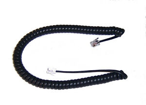 Telephone Handset replacement Curly Cord 12 Foot Charcoal CURLY-CORD-C-12FT