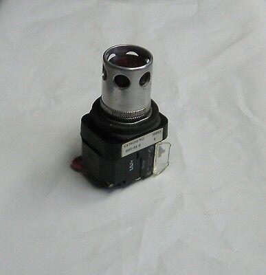 Allen Bradley Illum.Red Push Button w/ Guard, 800T-PA16, Ser B, Used, Warranty
