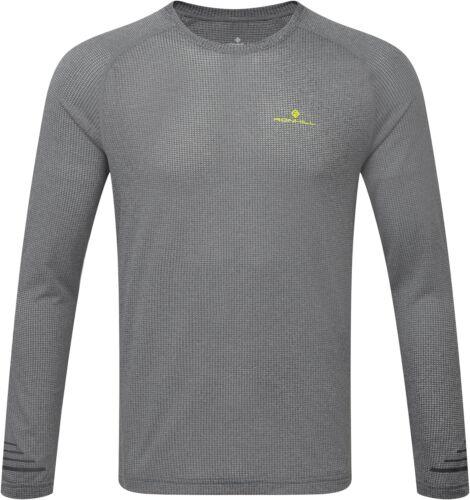 Ronhill Stride Mens Running Top Grey Long Sleeve Lightweight Summer Run Jersey