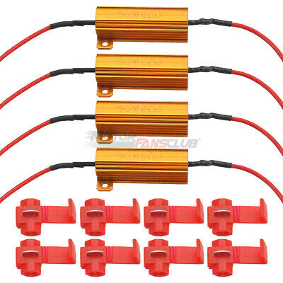 led Load Resistor 4 x 50W 6O LED Indicator Flash Rate Relay Load Resistor Bulbs Ballast