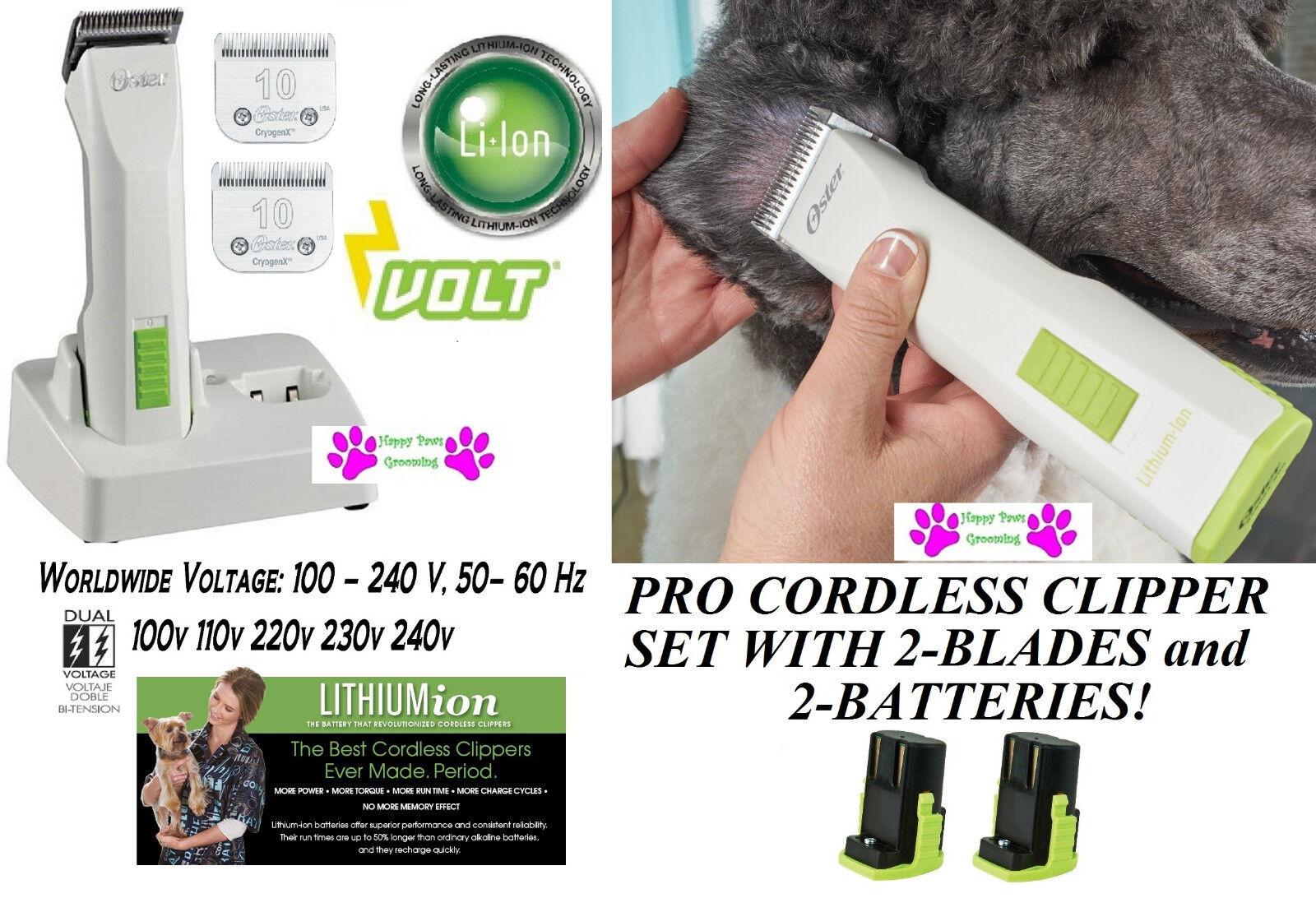Oster Volt A5 Cordless Lithium pro Tosatrice KitTwo Batteries& Batteries& Batteries& Due  10 Lama Set c1f694