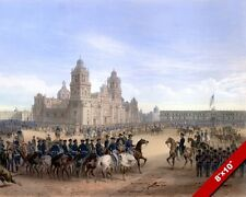 MEXICAN AMERICAN WAR US IN MEXICO CITY HISTORY PAINTING REAL CANVAS ART PRINT