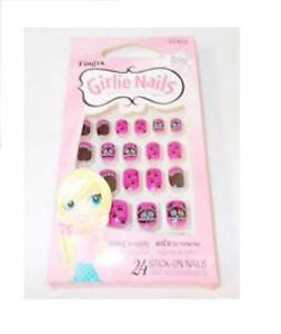 Fing-039-rs-Girlie-Stick-on-Nails-24-Nails-HALLOWEEN-BATS