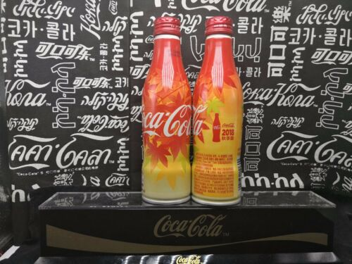 rare china 2018 coca coke cola  autumn maple leaf Aluminum bottle empty