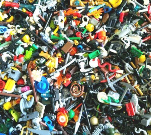 LEGO Minifigure Bulk Accessories LOT x 50 Random Weapons Tools City town parts
