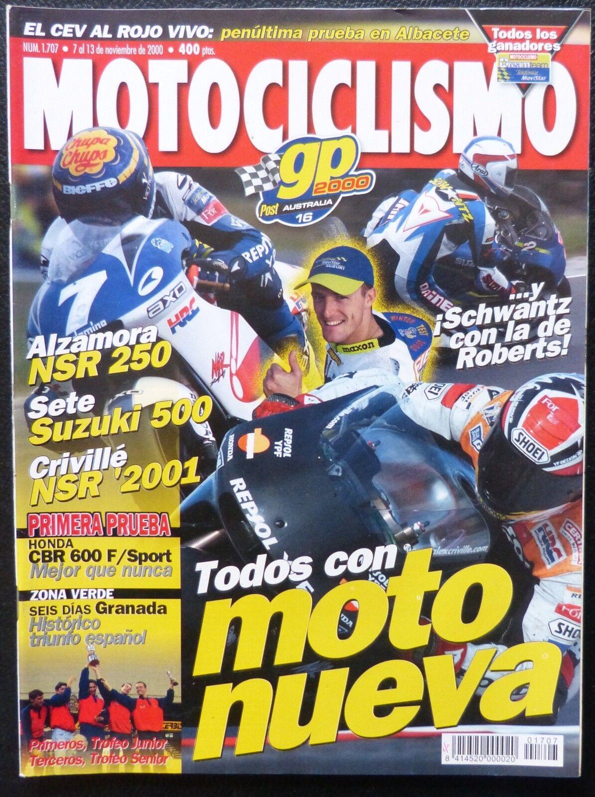 REVISTA MOTOCICLISMO,AÑO 2000,NUMERO 1707, Todos con moto nueva