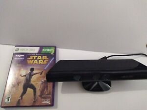 Genuine-Microsoft-XBOX-360-Kinect-Sensor-Bar-Black-with-1-StarWars-Game-Tested