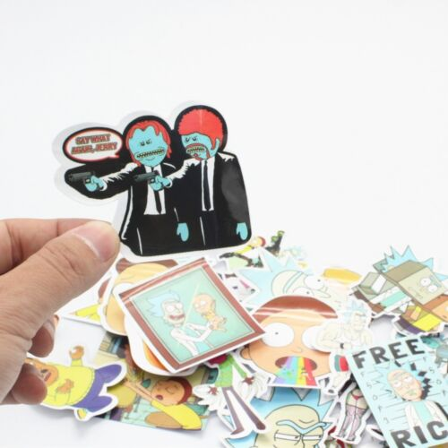 Rick /& Morty 35 Stickers Skateboard Portable Car Phone Tablet Décalques Stickerbomb