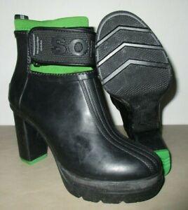 caea6171fef8 Sorel Women Medina III Ankle Rain Platform Heel Booties Black ...