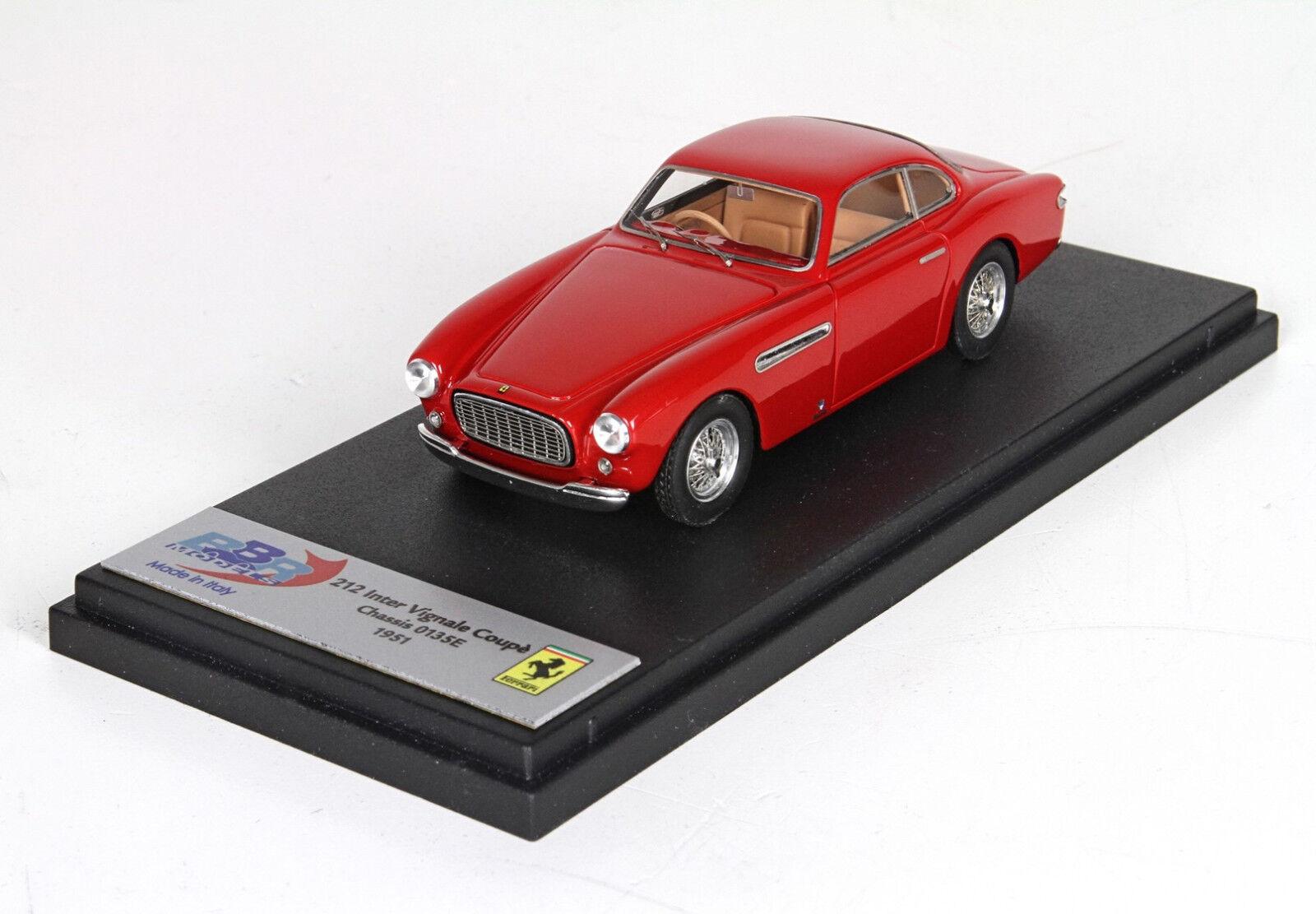 Ferrari 212 Inter Vignale Coupè 1951 Dark rojo 1 43  BBR190A  BBR Made in