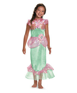 Image is loading Girls-Mermaid-Costume-Pink-Green-Sea-Princess-Fancy-  sc 1 st  eBay & Girls Mermaid Costume Pink Green Sea Princess Fancy Dress Halloween ...