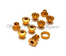 NEW KCNC CRANK CHAINRING BOLTS SCREWS FOR CAMPY CAMPAGNOLO  AL7075, GOLD