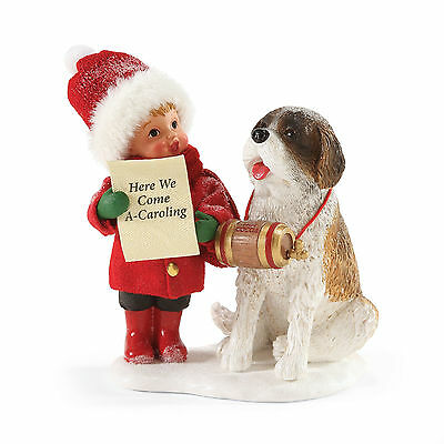 Dept 56 Possible Dreams Christmas Carolers Kid & Dog 4053586 NEW NIB
