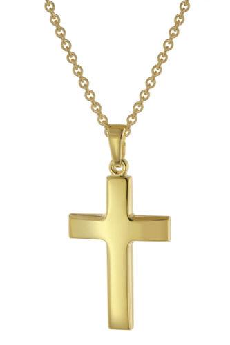 Trendor joyas señora-collar con Cruz-remolque de 24 mm de oro sobre plata 75824