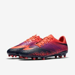 ab99915e96500 Nike HYPERVENOM PHELON II FG Soccer Cleats PURPLE ORANGE 749896 845 ...