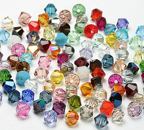 100 unidades 5328 xillion bicone cristal de perlas 4 mm multicolor