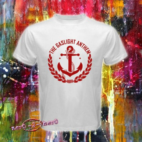 THE GASLIGHT ANTHEM Anchor Logo rock band men/'s New WHITE T shirt S to 3XL