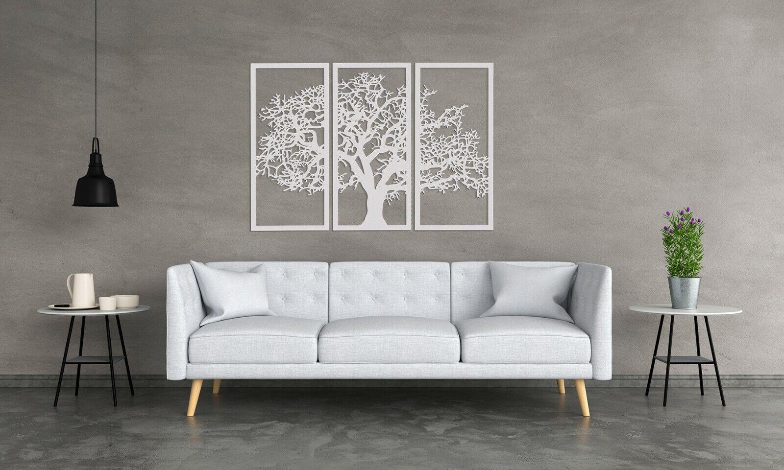 3D DEKORATIVE WANDPANEEL,   TREE OF LIFE   TRIPTYCHON ,75 x 110 cm, HANDMADE | Online Shop