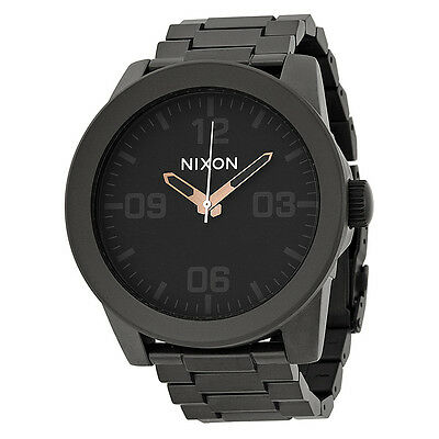 Nixon Corporal Steel Black Stainless Steel Mens Watch A3461530