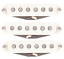 Suhr V60LP Low Peak Classic Vintage 60/'s Single Coil White Strat Pickup Set