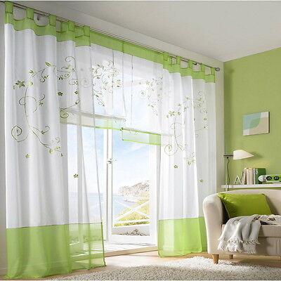 Tulle Living Room Door Window Curtain Drape Panel Sheer Scarfs Valances Gifts