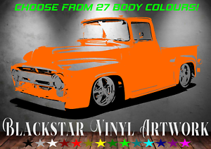 FORD-F100-HOT-ROD-CHOOSE-YOUR-OWN-BODY-COLOUR-LARGE-DECAL-WALL-ART-23-034-X-43