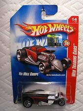 2008 HOT WHEELS WEB TRADING CARS 1/4 MILE COUPE (BLACK/RED) 14/24 FACTORY SET