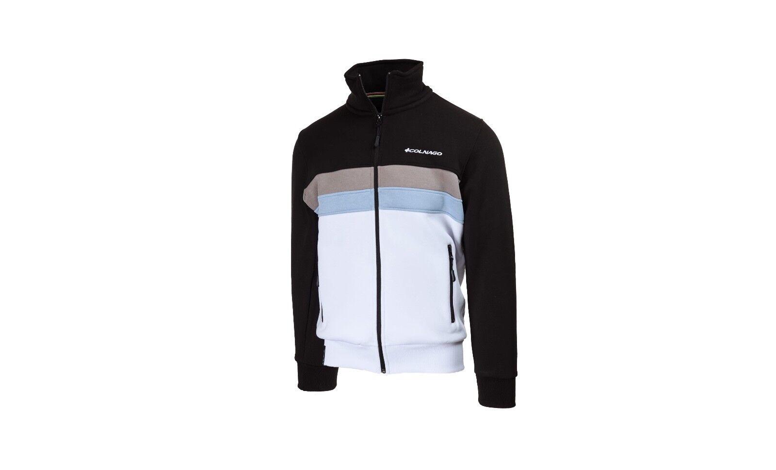 Sweatshirt Colnago Audes Reißverschluss Schwarz Weiß Größe L