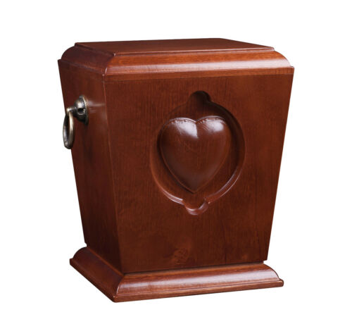 BEAUTIFUL SOLID WOOD CASKE,FUNERAL ASHES URN FOR ADULT CREMATION MEMORIAL(WU39C)
