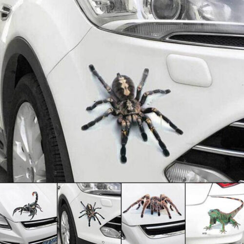 2pcs 3D Spider Crawling Vivid Decal Hood Sticker for Car Truck Vehicle SUV Decal