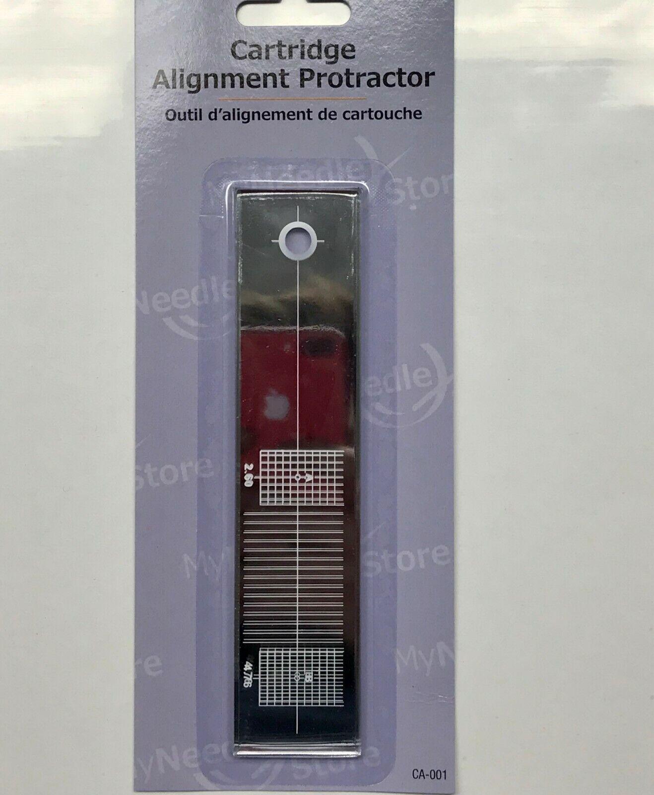 Alignment Protractor Tool Mirror for Turntable Phono Cartridge Stylus