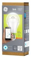 Ge Link A19 Connected Led Bulb Psb19-sw27 60w Soft White Wink Alexa Amazon Echo