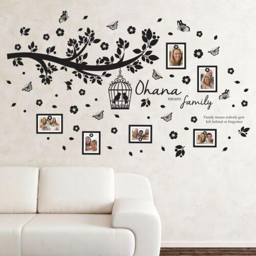 Walplus Photo De Famille Arbre avec Cadre Autocollants Muraux Salon Accueil Décorations