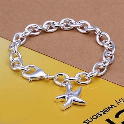 Gut Ausgebildete Asamo Damen Armband Seestern Anhänger 925 Sterling Silber Plattiert A1304 Freigabepreis