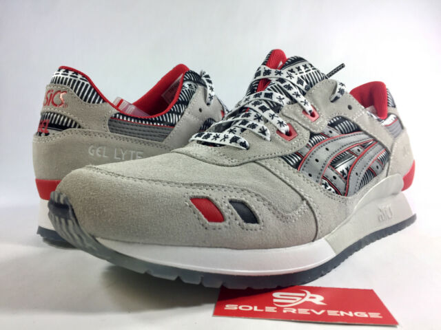 watch 9b0e6 a9e85 NEW ASICS Tiger GEL-Lyte III Glacier Grey/Silver Red Black Shoes | Busha  Pack c1