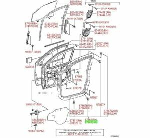 Toyota Tacoma Access Cab Driver Side Front Door Weatherstrip Genuine OEM