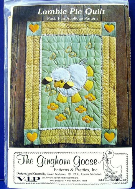 aeced4a2a505d7 Baby Lamb Crib Quilt Sewing Pattern Nursery Applique Quilting Patchwork  Blanket