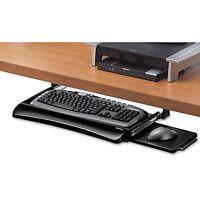 Keyboard Tray Drawer Underdesk Under Desk Office Home Sliding Black & Silver