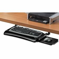 Keyboard Tray Drawer Underdesk Under Desk Office Home Sliding Black & Silver