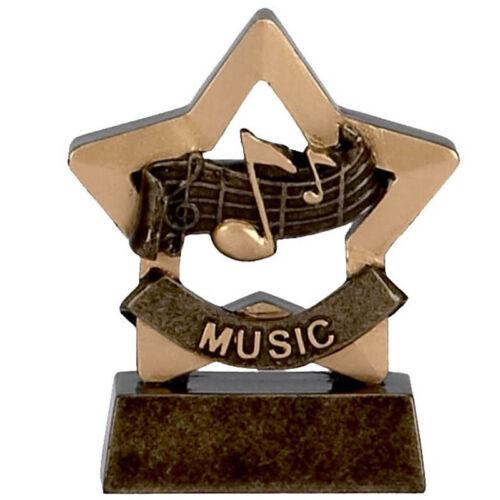 Mini Star MUSIC Trophy School Awards FREE ENGRAVING