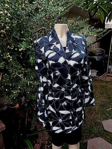 Floral George Coton Stretch 4 Trench Stretch Vtg Femme Taille wFn1t