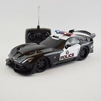 Dodge Viper Police Car Rc Radio Remote Licensed Toy 1:18 W/lights See Video