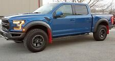 FORD F-150 RAPTOR 2017 MUD FLAPS by ROKBLOKZ All New! RED MUD FLAPS