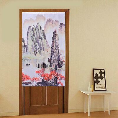 New Chinese Japanese Landscape Painting Hills Doorway Door Curtain JOY-5912